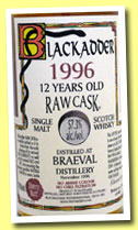 Braeval 12 yo 1996/2009 (57.3%, Blackadder, Raw Cask, sherry butt, cask #4904, 488 bottles)